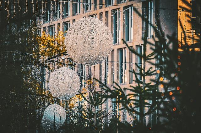 vánoční atmosféra ve městě